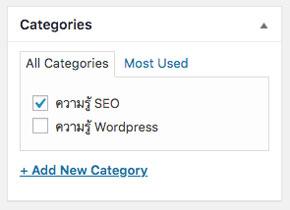 categories wordpress